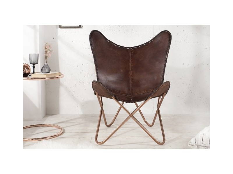Poltroncina in pelle FLY