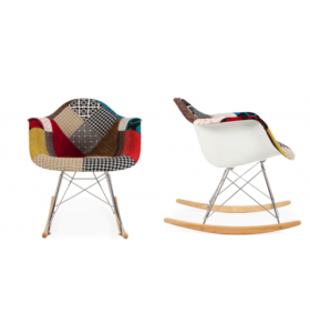 "Sedia a dondolo ""rocking chair"" PATCHWORK"