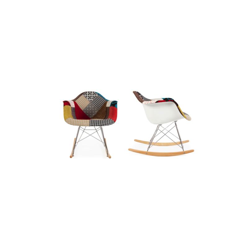 Sedia a dondolo rocking chair patchwork - Sedia a dondolo design ...