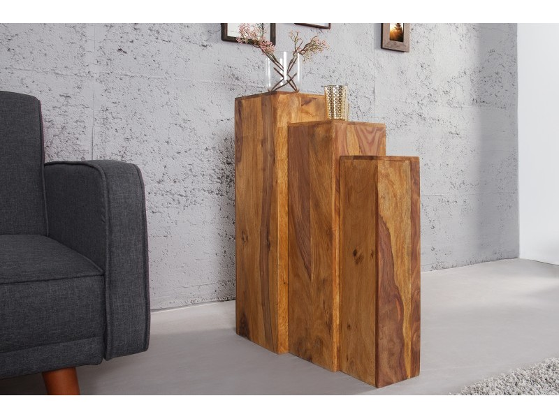 Set 3 Cubi in legno Sheesham