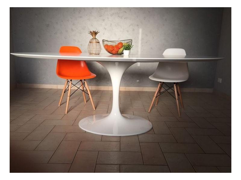 Tavolo Tulip Table Laminato Liquido diametro 120 cm