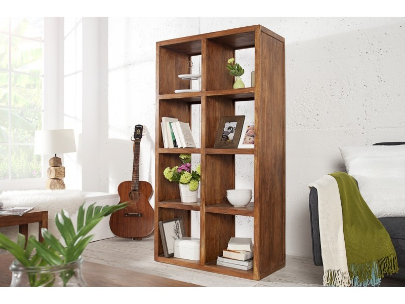 Libreria in legno Sheesham 180 cm