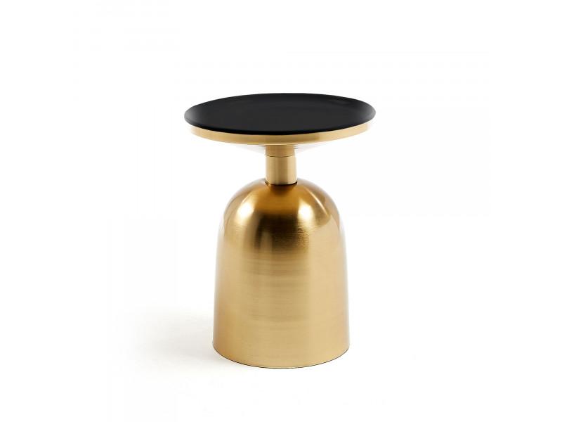 Tavolino BOTTON metallo ottone smaltato nero