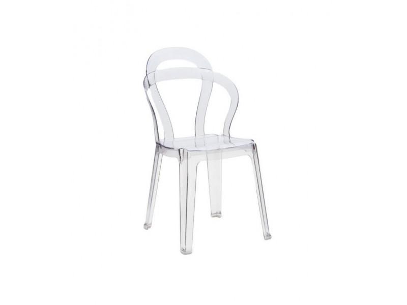 Sedia in policarbonato trasparente RAIN