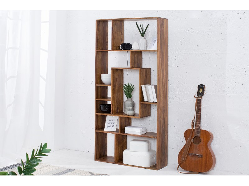 Libreria in legno Sheesham Modulo 180 cm