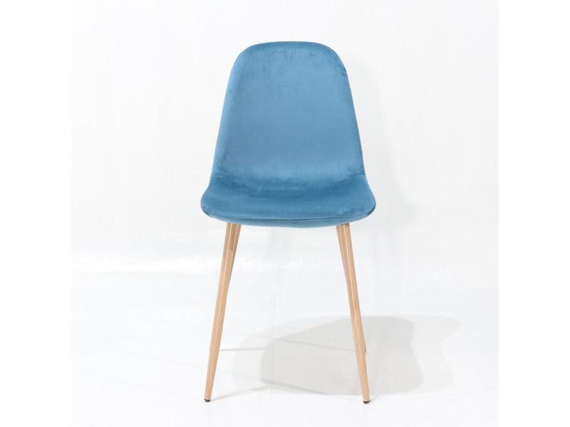 Sedia MYHOME ONE in pelle, velluto o tessuto color azzurro