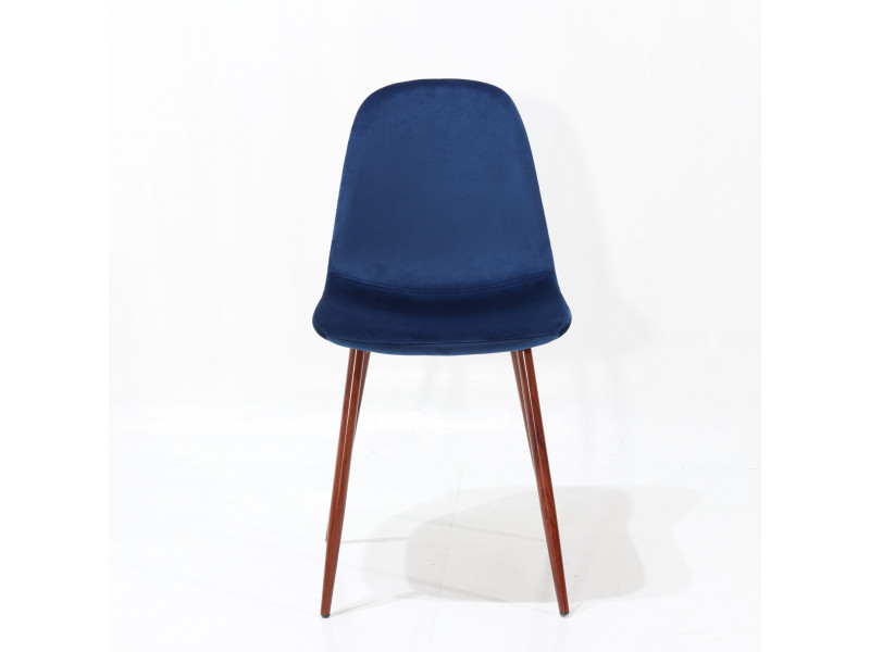 Sedia LOFT BLUE velluto
