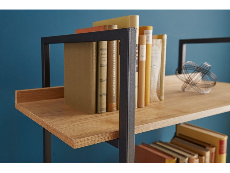 Libreria in legno e metallo STREET 166 cm