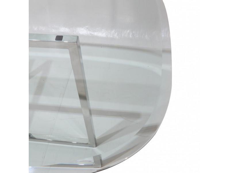 Tavolo AVA piano in vetro temperato a botte , varie misure