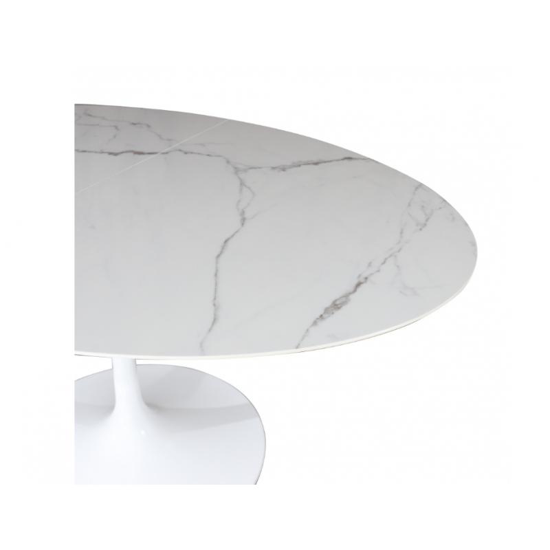 Tavolo Ceramic Allungabile Base In Fusione Di Alluminio Varie Misure