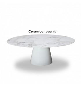 Tavolo ANDROMEDA in ceramica effetto marmo in varie finiture e misure