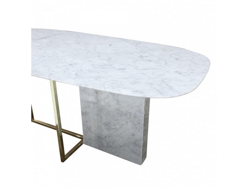 Tavolo MINERVA piano in Marmo di Carrara a botte , varie misure