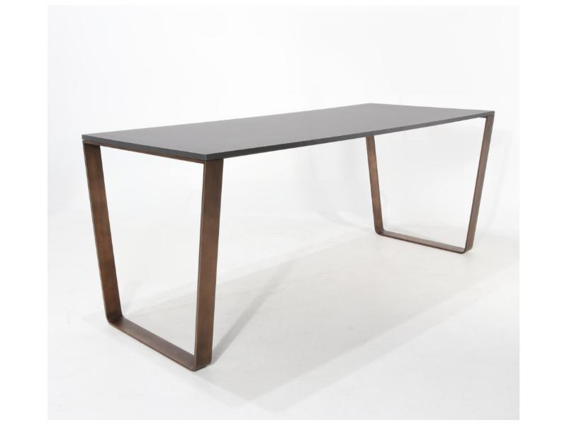 Tavolo da Pranzo/Ufficio CONIX BRONZO in varie misure e finiture