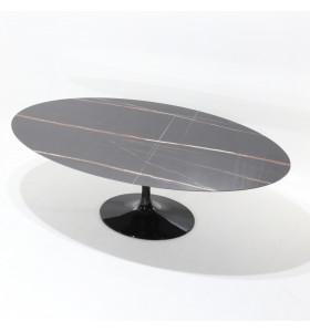 Tavolo TULIP CERAMIC piano ceramica effetto marmo varie misure