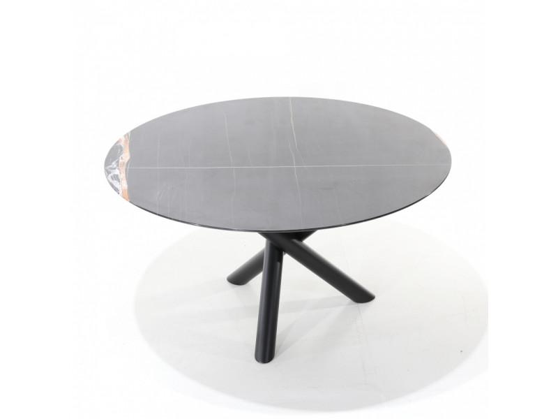 Tavolo FUSION tondo in ceramica effetto marmo