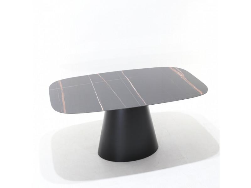 Tavolo ANDROMEDA BOTTE allungabile, piano in ceramica effetto marmo varie finiture e misure