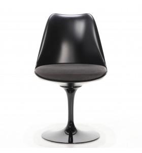Sedia Tulip Saarinen scocca nera