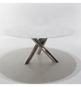 Tavolo Tondo FUSION in marmo