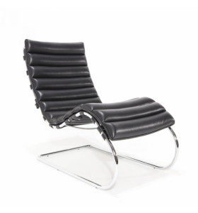 Chaise longue MR MIES 1 in pelle