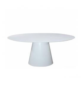 Tavolo ANDROMEDA in Laminato Liquido tondo/ovale bianco varie misure