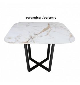 Tavolo Orione Qiadrato in Ceramica effetto marmo varie finiture e misure