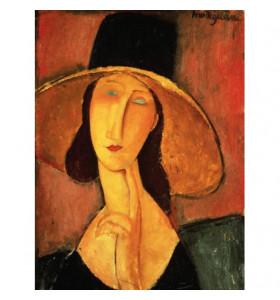 Quadro d'autore Portrait de Jeanne Hébuterne in tela canvas