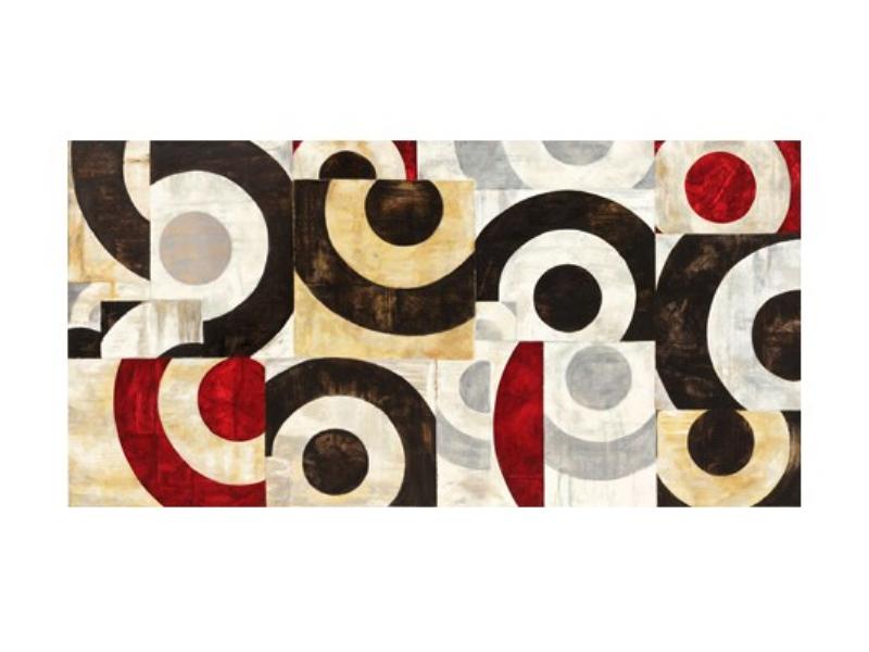Quadro d'autore CONNESSIONE GEOMETRICA su tela canvas