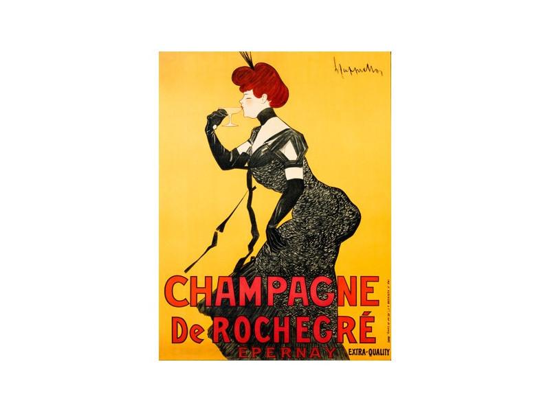 Quadro d'autore Champagne De Rochegré su tela canvas