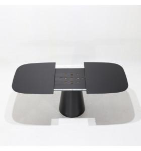 Tavolo ANDROMEDA allungabile in Laminato Liquido a botte bianco o nero varie misure