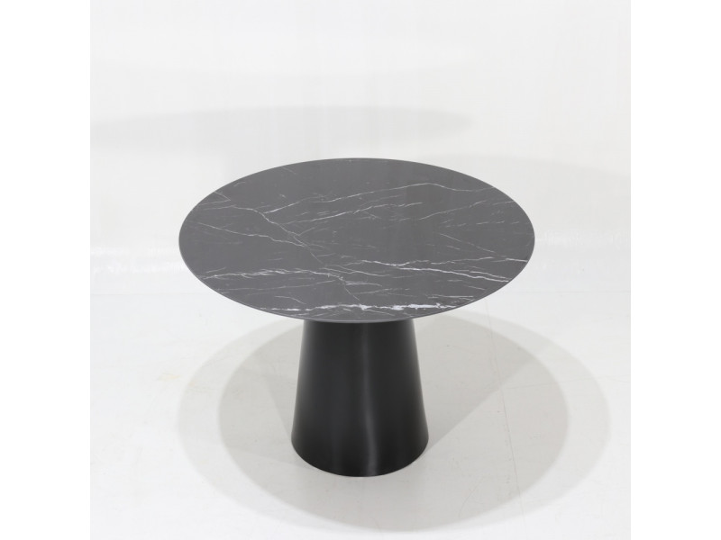 Tavolo ANDROMEDA in ceramica effetto marmo Nero Marquinia in varie finiture e misure