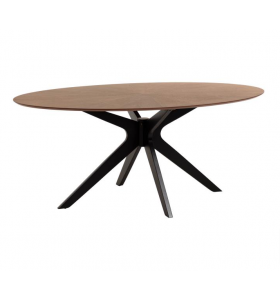 Tavolo TEAK NOCE ovale 180 x 110 cm