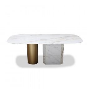 Tavolo ELITE piano ceramica a botte effetto marmo varie misure e finiture
