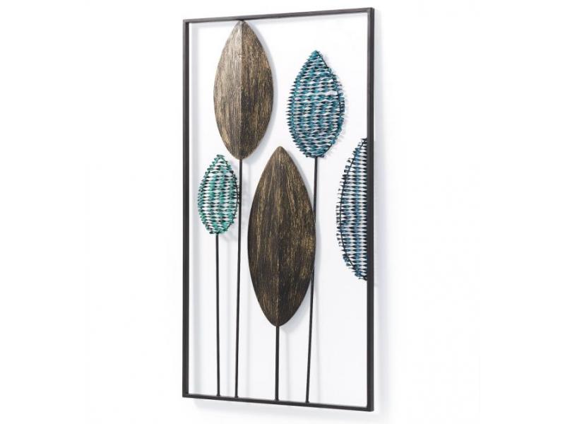 Quadro/Pannello in ferro FEUILLE 104 x 54 cm