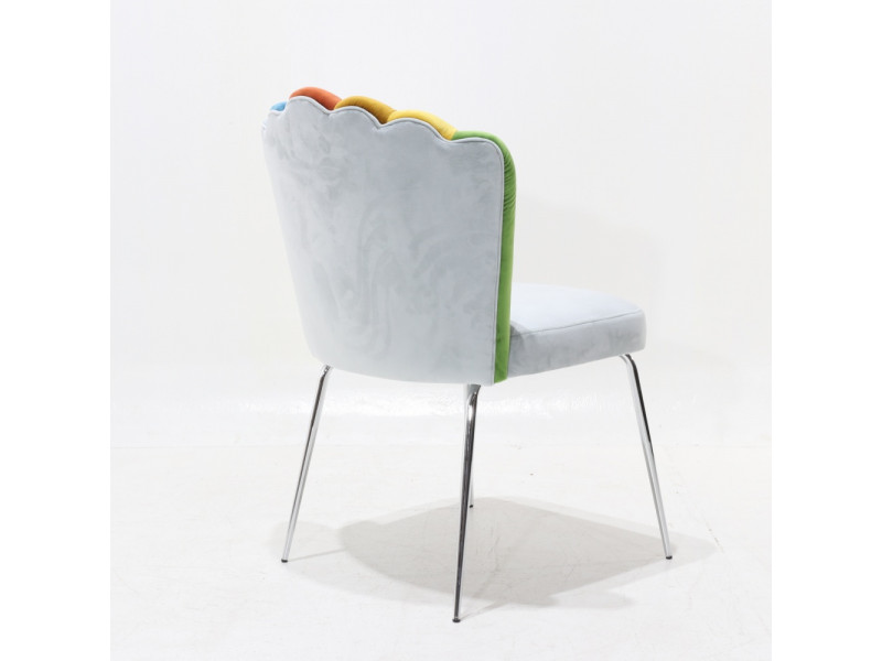 Sedia HAND RAINBOW imbottita in velluto antimacchia vari colori personalizzabile
