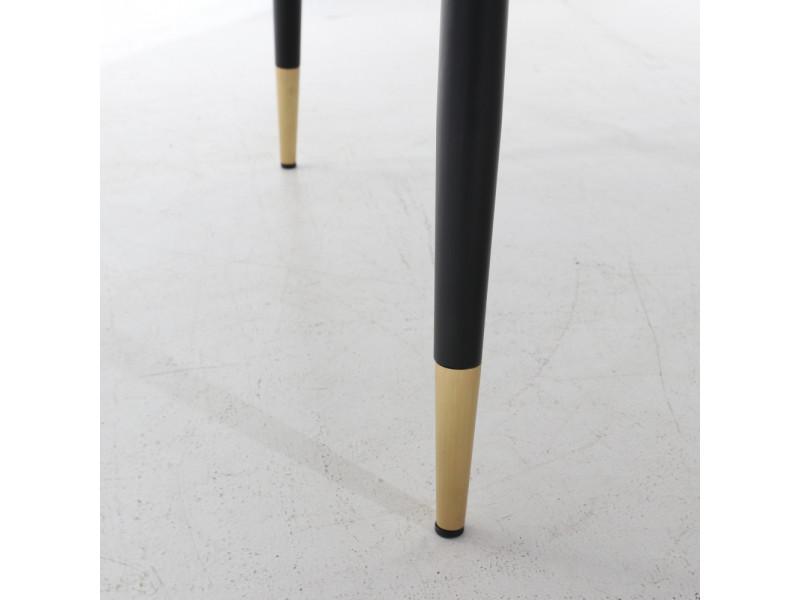 Tavolo EDRA , Base metallo piano in ceramica effetto marmo a botte