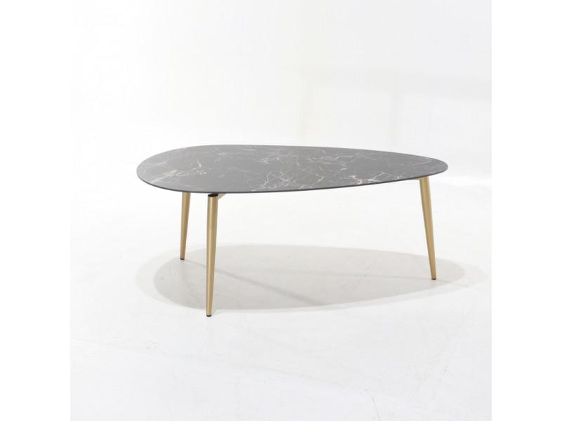 Tavolino LIA in ceramica effetto marmo varie finiture