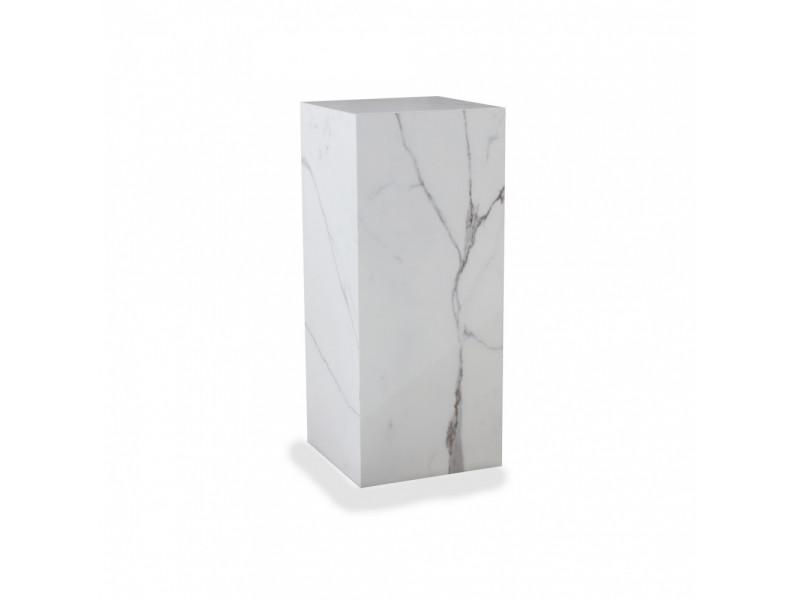 Set 2 Tavolini MICHELANGELO in ceramica effetto marmo farie finiture