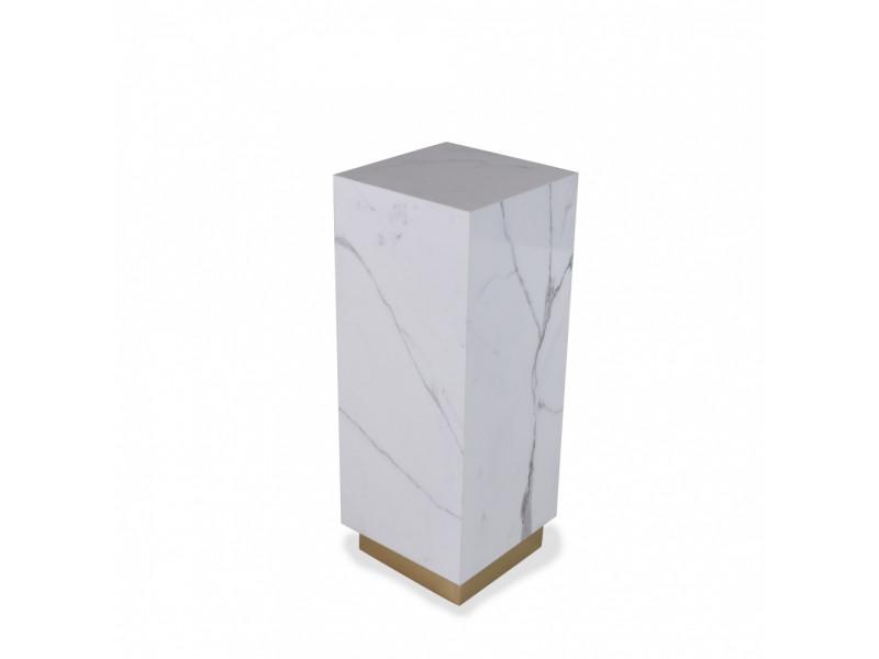 Tavolino MICHELANGELO CON BASE in ceramica effetto marmo varie finiture