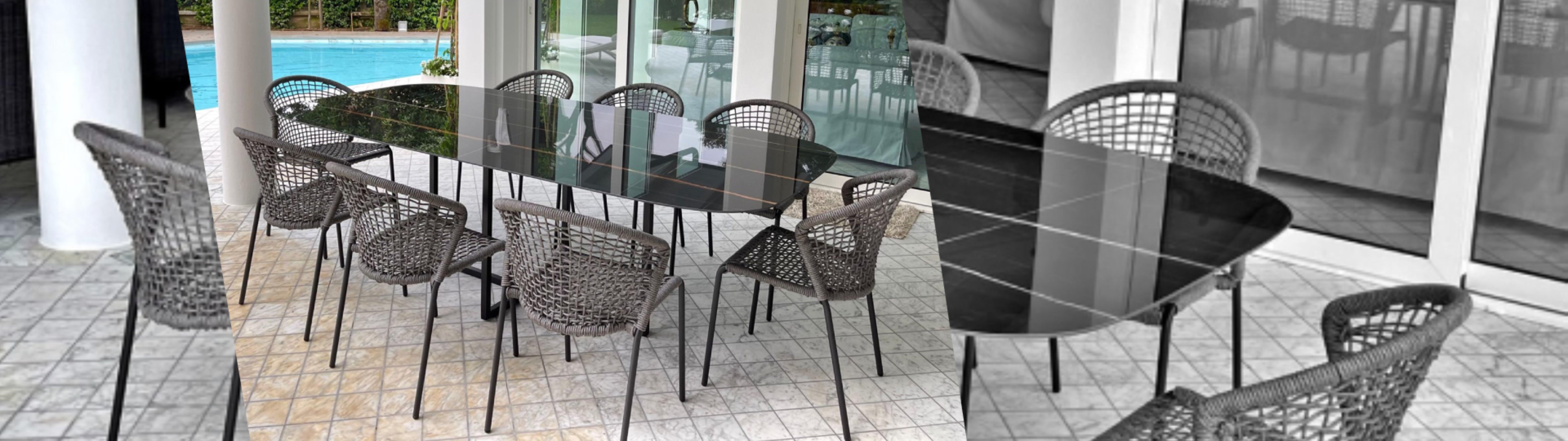 Tavolo AVA in ceramica effetto marmo